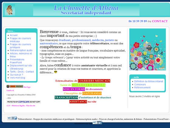 4fc1f712338 La Chouette d Athena - Secrétariat indépendant - Impresa Web Impresa Web