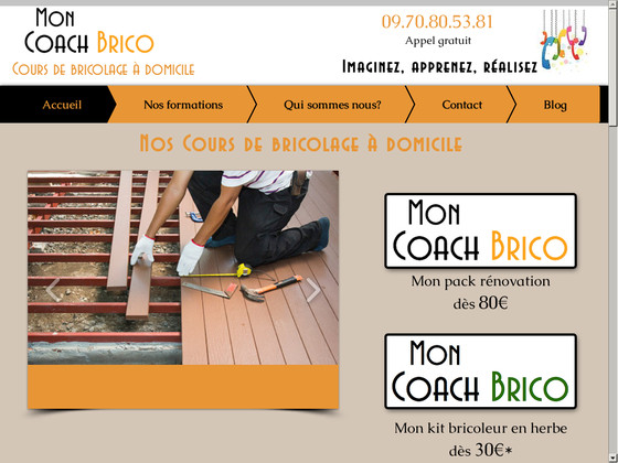 mon coach brico cours bricolage domicile impresa web impresa web. Black Bedroom Furniture Sets. Home Design Ideas